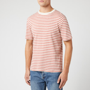 Folk Men's Classic Stripe T-Shirt - Ecru Rhubarb