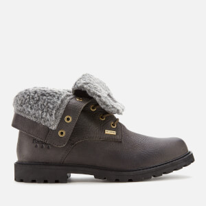 Barbour Women's Hamsterly Roll Top Waterproof Lace Up Boots - Graphite