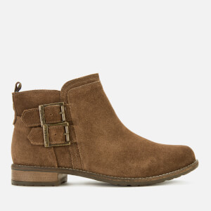 Barbour Women's Sarah Suede Low Buckle Boots - Caramel