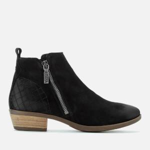 Barbour Women's Una Suede Flat Ankle Boots - Black