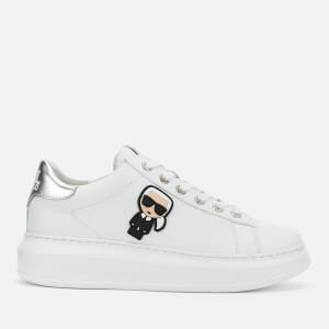 Karl Lagerfeld Women's Kapri Karl Ikonic Chunky Runner Style Trainers - White/Silver