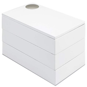 Umbra Spindle Storage Box - White Natural