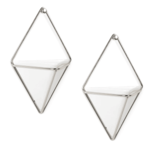 Umbra Trigg Wall Vessel - White Nickel (Set of 2)