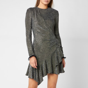 Philosophy di Lorenzo Serafini Women's Sparkle Ruffle Dress - Black