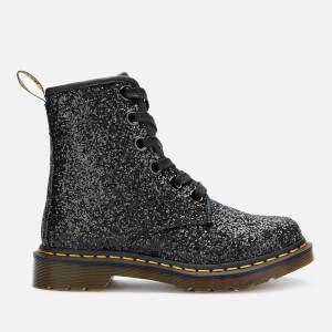 Dr. Martens Women's 1460 Farrah Glitter 5-Eye Boots - Black