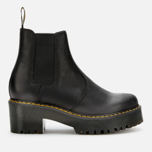 Dr. Martens Women's Rometty Leather Chunky Sole Chelsea Boots - Black