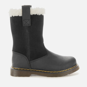 Dr. Martens Kids' Juney Suede Waterproof Pull Up Boots - Black
