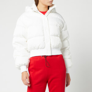 MSGM Women's Padded Down Jacket - Optical White