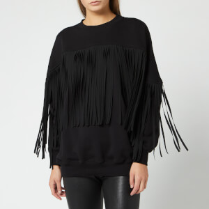 MSGM Women's Fringe Sweatshirt - Black