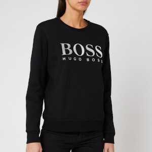 BOSS Women's TalaBOSS Metallic Logo Sweatshirt - Black