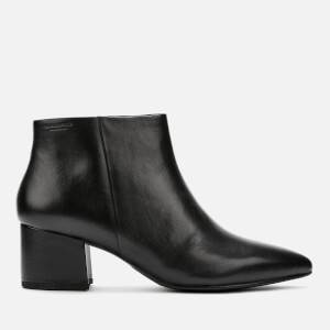 Vagabond Women's Mya Leather Heeled Ankle Boots - Black