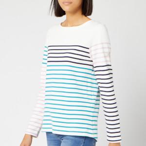 Joules Women's Harbour Long Sleeve Top - Cream Navy Stripe