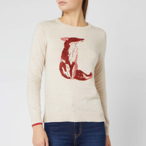 Joules Women's Miranda Fox Jumper - Oat Fox