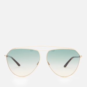 Tom Ford Women's Binx Sunglasses - Shiny Rose Gold/Gradient Green