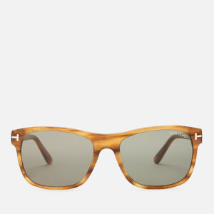 Tom Ford Men's Guilio Sunglasses - Dark Brown/Green