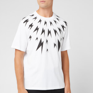 Neil Barrett Men's Meteorites Fairisle T-Shirt - White/Black