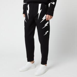 Neil Barrett Men's Tiger Bolt Sweatpants - Black/White
