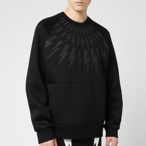 Neil Barrett Men's Retro Fairisle Thunderbolt Sweatshirt - Black/Black