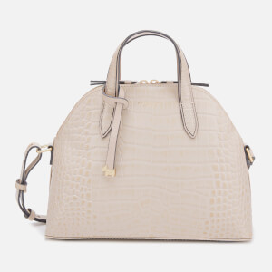 Radley Women's Gallery Road-Faux Croc Medium Zip Top Multiway Bag - Dove Grey Croc
