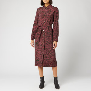 A.P.C. Women's Karen Dress - Maroon