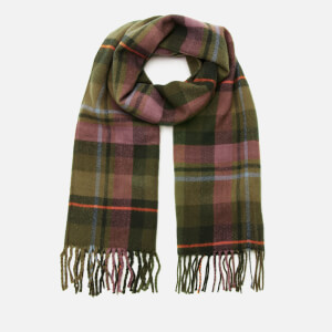 Joules Women's Bracken Check Scarf - Navy Green Check