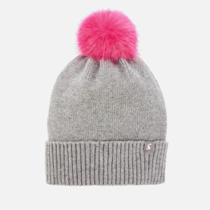Joules Women's Snowday Pom Hat - Charcoal