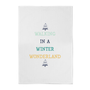 Walking In A Winter Wonderland Cotton Tea Towel