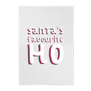 Santa's Favourite Ho Cotton Tea Towel