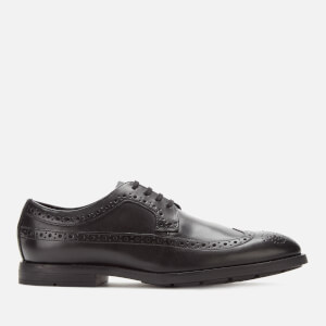 Clarks Men's Ronnie Limit Leather Derby Shoes - Black