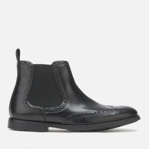 Clarks Men's Ronnie Top Leather Chelsea Boots - Black