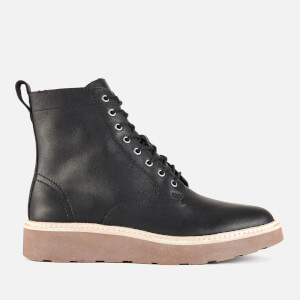 Clarks Women's Trace Pine Leather Lace Up Boots - Black