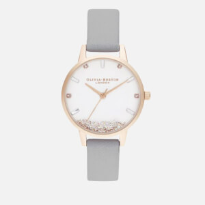 Olivia Burton Women's Wishing Watch - Grey & Rose Gold