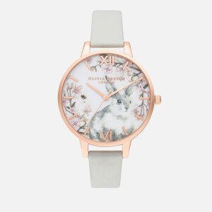 Olivia Burton Women's Pretty Blossom Watch - Vegan Grey & Rose Gold