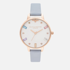 Olivia Burton Women's Rainbow Bee Watch - Chalk Blue & RG