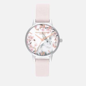 Olivia Burton Women's Pretty Blossom Watch - Blossom, Rose Gold & Silver