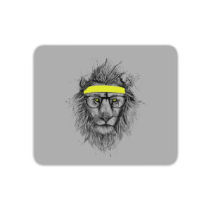 Lion And Sweatband Mouse Mat