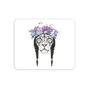 Lion And Flowers Mouse Mat
