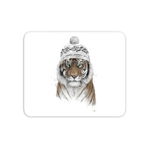 Winter Tiger Mouse Mat