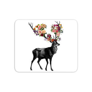 Spring Itself Deer Floral Mouse Mat