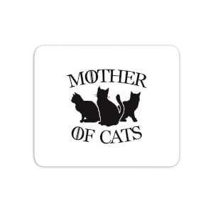 Mother Of Cats White Tee Mouse Mat