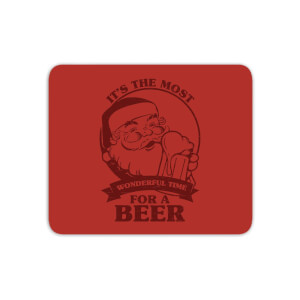 The Most Wonderful Time For A Beer Mouse Mat