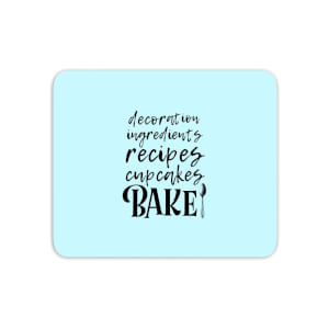 Baking Words Mouse Mat