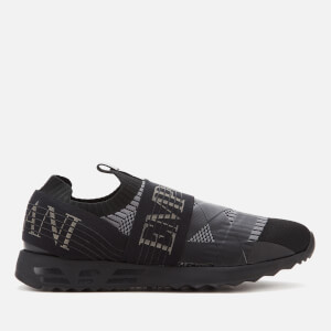 Emporio Armani Men's Argo Knitted Sock Trainers - Black/Anthracite/Black