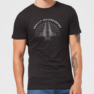 Braille Skateboarding Limited Edition Bridge Sunset Men's T-Shirt - Black