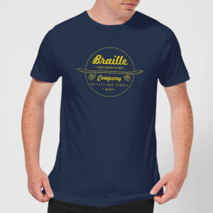 Limited Edition Braille Skate Company Mens T-Shirt - Navy