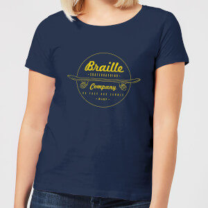 Limited Edition Braille Skate Company Women's T-Shirt - Navy