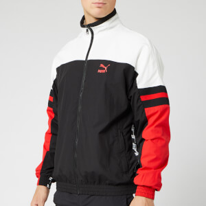 Puma Men's XTG Woven Jacket - Puma Black/Red Combo