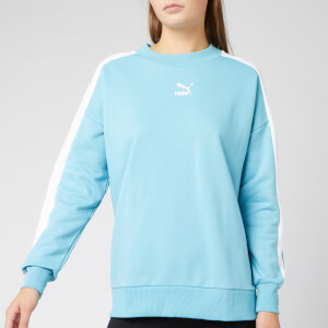 Puma Women's Classics T7 Crew Neck Sweatshirt - Milky Blue