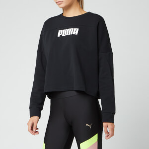 Puma Women's NU-TILITY Cropped Crew Neck Sweatshirt - Puma Black