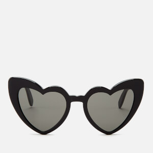 Saint Laurent Women's Loulou Heart Shaped Sunglasses - Black